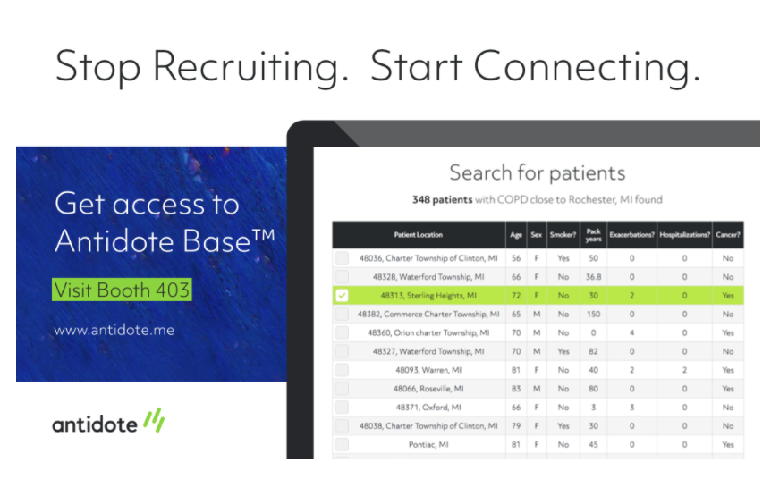 Antidote Base for patient recruitment