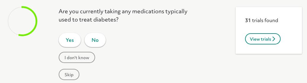 Screen Shot: Diabetes Medications