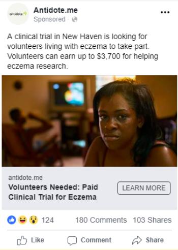 eczema ad test clinical trials
