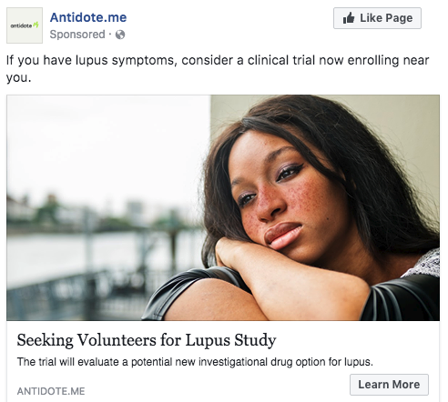 In clinical trial advertising, choose imagery that reflects your target audience.