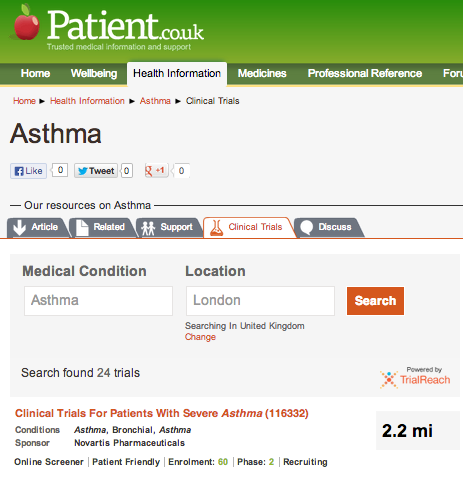 Patient.co.uk and TrialReach: Giving patients greater access to clinical trials