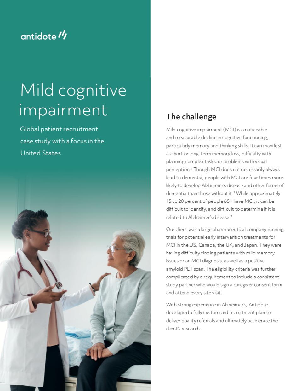 Mild Cognitive Impairment Case Study