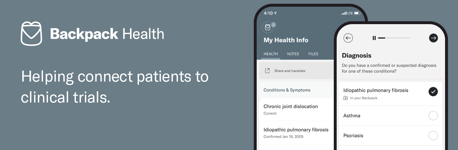 How Backpack Health Helps Patients Organize Complex Medical Needs and Connect with Research